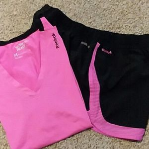 Reebok athletic top and shorts.